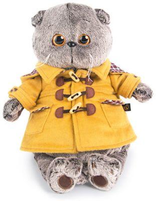 Мягкая игрушка Budi Basa Кот в дафлкоте, 19 см, артикул:7491162 - Мягкие игрушки