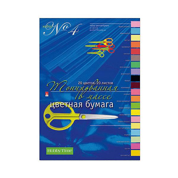 Альт Набор цветной бумаги № 4 А4, 20 листов (тонированная)