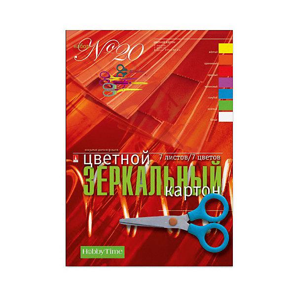 Альт Набор цветного картона № 20 Альт А4, 7 листов (зеркальный) набор цветного бархатного картона а4 5цв 5л art idea 13 22225 y204