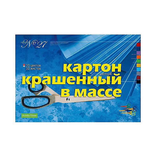 цена на Альт Набор цветного картона № 27 Альт А3, 10 листов (крашенный в массе)