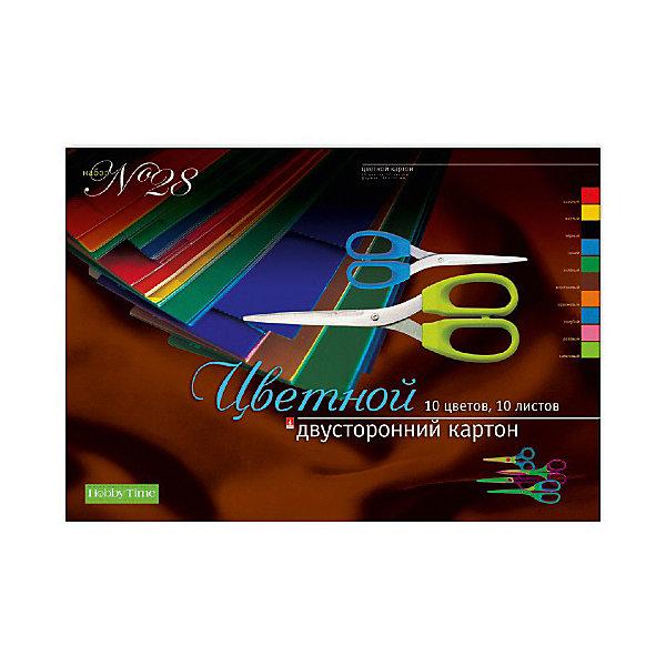 цена на Альт Набор цветного картона № 28 Альт А3, 10 листов (двухсторонний)