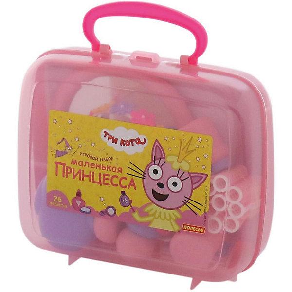 Салон красоты Полесье Три кота. Принцессы, в чемоданчике (розовый)Салон красоты<br>Характеристики:<br><br>• тип игрушки: игровой набор;<br>• возраст: от 3 лет;<br>• размер: 22х8,5х19 см;<br>• комплектация: расчески,  обруч для волос, бигуди с фиксаторами, браслеты, клипсы, зеркало, имитация пудры, имитация теней для век, имитация помады, имитация флакончиков с косметическими средствами;<br>• вес: 375 гр;<br>• бренд: Полесье;<br>• материал: пластик.<br> <br>Салон красоты «Три кота. Принцессы» Полесье  порадует девочек от трех лет. Теперь озорные котята из мультфильма «Три кота» будут радовать детей во время игр с набором «Принцессы» от фабрики «Полесье». Детские игрушки выделяются ярким дизайном, частью которого стали хвостатые персонажи из любимого мультсериала.<br><br>«Три кота» рассказывают о повседневной жизни маленьких, но очень любознательных котят: Коржика, Компота и их младшей сестренки Карамельки.  Игрушки упакованы в чемоданчик-шкатулку, куда юная модница может поместить и другие свои аксессуары для волос.С таким набором  девочки могут организовать свой салон красоты или парикмахерскую, тем самым развивать воображение и фантазию.<br><br>Салон красоты «Три кота. Принцессы» Полесье можно купить в нашем интернет-магазине.<br>Ширина мм: 220; Глубина мм: 85; Высота мм: 190; Вес г: 375; Возраст от месяцев: 36; Возраст до месяцев: 2147483647; Пол: Женский; Возраст: Детский; SKU: 7502309;