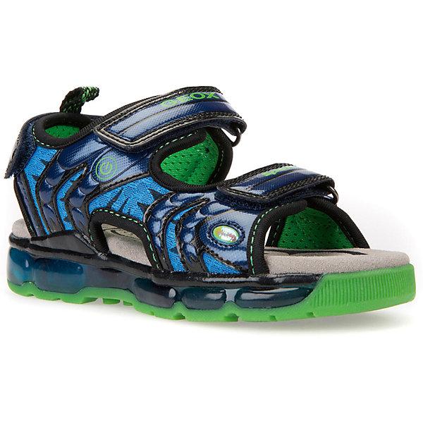 GEOX Сандалии GEOX для мальчика сандалии для мальчика bottilini цвет синий голубой so 096 8 размер 21 22 5