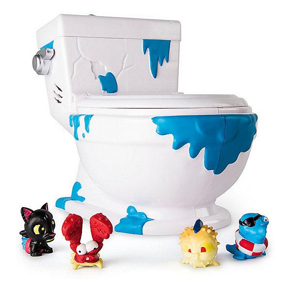 Spin Master Туалет-коллектор Spin Master, 4 фигурки baby baby туалет детская кровать унитаз унитаз миска для унитаза унитаз унитаз туалет туалет кровать туалет зеленый туалет bh 101