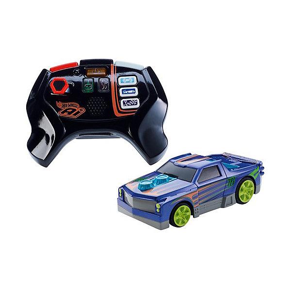 Mattel Радиоуправляемая машинка Hot Wheels Умная трасса, синяя