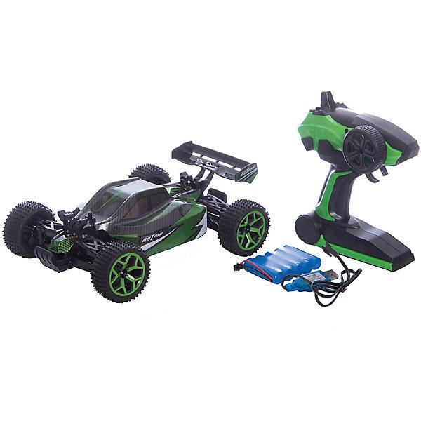 Внедорожник р/у Mioshi Tech Спорт Багг 26, зеленыйРадиоуправляемые машины<br>Характеристики:<br><br>• возраст: от 6 лет;<br>• комплектация: внедорожник, ПДУ, USB зарядное устройство, аккумуляторная батарея, инструкция на русском языке;<br>• масштаб: 1:18;<br>• радиус действия ПДУ: 30 м;<br>• игровое время: ~20 минут;<br>• материал корпуса: пластмасса;<br>• полный привод (4WD);<br>• большие резиновые колёса;<br>• скорость до 20 км/ч;<br>• удобный ПДУ с колесом;<br>• движение в любом направлении;<br>• размер машины: 26х18х9 см;<br>• вес: 1 кг;<br>• размеры упаковки: 43 x 23 x 19 см.<br><br>Внедорожник р/у Mioshi Tech Кросс Багг 26 – большой радиоуправляемый автомобиль, который обладает отличной проходимостью за счёт больших резиновых колёс и полного привода (4х4). Легкий корпус и мощный двигатель обеспечивают быстрый разгон до 20 км/ч.<br><br>Удобный пульт дистанционного управления с колесом позволяет с легкостью маневрировать внедорожником между препятствиями и принимать участие в гоночных соревнованиях с другими спортивными внедорожниками Mioshi Tech как в помещении, так и на улице. <br><br>Внимание! Для работы внедорожника требуется аккумуляторная батарея 6 В (в комплекте).<br>Для работы ПДУ – 2 батарейки АА 1,5 В (нет входят в комплект).<br>Время зарядки аккумуляторной батареи: 2,5-3 часа.<br><br>Внедорожник р/у Mioshi Tech Спорт Багг 26, зеленый, Mioshi можно купить в нашем интернет-магазине.<br>Ширина мм: 430; Глубина мм: 230; Высота мм: 195; Вес г: 1700; Цвет: зеленый; Возраст от месяцев: 72; Возраст до месяцев: 156; Пол: Мужской; Возраст: Детский; SKU: 7534683;