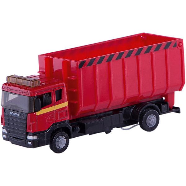 Машина Autotime SCANIA, стройконтейнер, 1:48, краснаяМашинки<br>Характеристики товара:<br><br>• возраст: от 3 лет;<br>• для мальчиков;<br>• модель: Scania Lorry;<br>• цвет: красный;<br>• масштаб: 1:48;<br>• из чего сделана игрушка (состав): металл, резина, пластик;<br>• длина машинки: 17 см.;<br>• размер упаковки: 19,7х11,1х6 см.;<br>• вес: 237 гр.;<br>• упаковка: картонная коробка блистерного типа.<br><br><br>Металлическая машина «Стройконтейнер» из серии Scania Lorry от производителя Autotime имеет яркую красную расцветку.<br><br>Грузовой автомобиль оснащен подъемным контейнером, что сделает игру намного увлекательнее и интереснее. <br><br>Игрушка порадует многих мальчиков, которые любят устраивать захватывающие игры с автомобилем.<br><br>Машинку «Стройконтейнер» можно купить в нашем интернет-магазине.<br>Ширина мм: 197; Глубина мм: 60; Высота мм: 111; Вес г: 237; Цвет: красный; Возраст от месяцев: 36; Возраст до месяцев: 84; Пол: Мужской; Возраст: Детский; SKU: 7534699;