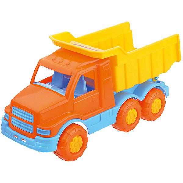 Самосвал Полесье Гоша жёлтый, в сеткеМашинки<br>Характеристики:<br>• игрушечный самосвал с подвижными элементами;<br>• кузов поднимается и опускается;<br>• широкие колеса легко перекатываются по ровной поверхности;<br>• в кабину можно посадить водителя;<br>• материал: пластик;<br>• размер упаковки: 22х11,5х11 см;<br>• упаковка: сеточка.<br>Игрушечный самосвал «Гоша» с функциональным кузовом используется мальчишками на стройке, на ферме, в песочнице. Кузов поднимется и опускается, можно перевозить и пересыпать песок, щебень, мелкие элементы блочного конструктора. В процессе игры развивается фантазия, координация движений, пространственное восприятие.<br>Самосвал «Гоша» Полесье, желтый можно купить в нашем интернет-магазине.<br>Ширина мм: 265; Глубина мм: 110; Высота мм: 128; Вес г: 243; Цвет: желтый; Возраст от месяцев: 36; Возраст до месяцев: 2147483647; Пол: Мужской; Возраст: Детский; SKU: 7534709;