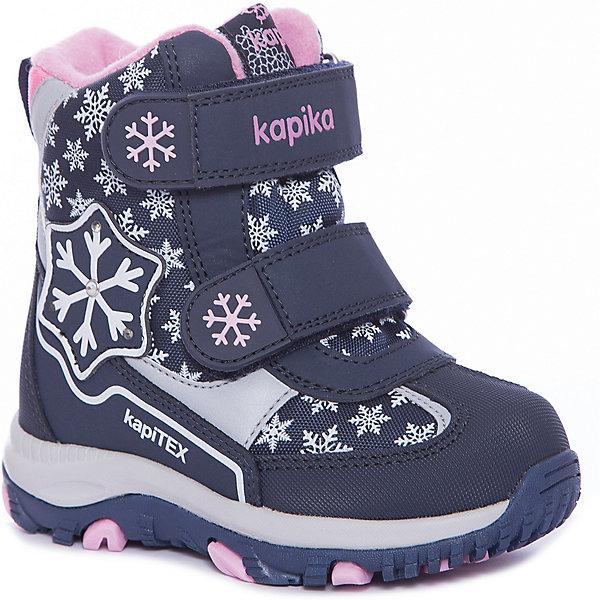 Kapika Ботинки Kapika для девочки детские ботинки с нескользящей подошвой bobdog 52071013 1 3