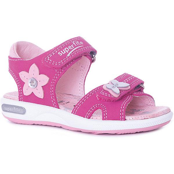 superfit Сандалии Superfit для девочки superfit superfit сандалии открытые на пробковой подошве для девочки серебро
