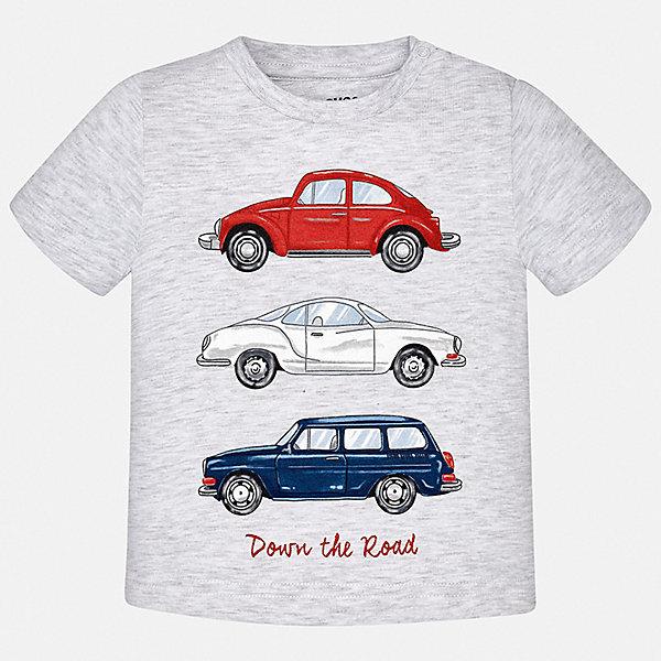 Футболка Mayoral для мальчикаФутболки, поло и топы<br>Характеристики товара:<br><br>• цвет: серый<br>• состав ткани: 100% хлопок<br>• сезон: лето<br>• застежка: кнопки<br>• короткие рукава<br>• страна бренда: Испания<br>• стиль и качество<br><br>Серая детская футболка с коротким рукавом от Mayoral декорирована стильным принтом. Благодаря продуманному крою детской футболки создаются комфортные условия для тела. Эта футболка для мальчика отличается модным дизайном. <br><br>Футболку Mayoral (Майорал) для мальчика можно купить в нашем интернет-магазине.<br>Ширина мм: 199; Глубина мм: 10; Высота мм: 161; Вес г: 151; Цвет: серый; Возраст от месяцев: 6; Возраст до месяцев: 9; Пол: Мужской; Возраст: Детский; Размер: 74,98,92,86,80; SKU: 7537898;