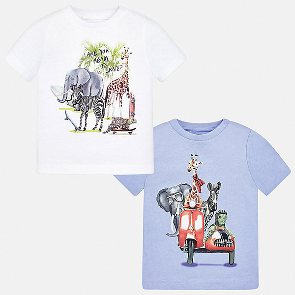 Mayoral Комплект: 2 футболки Mayoral для мальчика цена