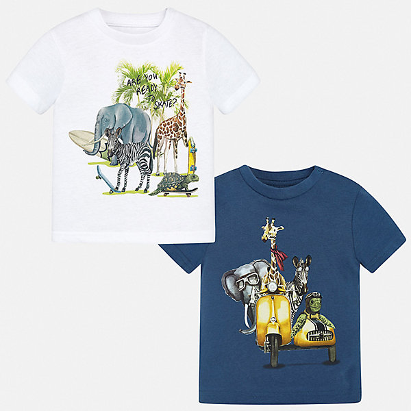 Mayoral Комплект: 2 футболки Mayoral для мальчика mayoral для мальчика темно синяя page 2 page 2