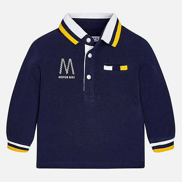 Футболка с длинным рукавом Mayoral для мальчикаФутболки с длинным рукавом<br>Характеристики товара:<br><br>• цвет: синий<br>• состав ткани: 100% хлопок<br>• сезон: демисезон<br>• особенности модели: отложной воротник<br>• застежка: пуговицы<br>• длинные рукава<br>• страна бренда: Испания<br>• стиль и качество<br><br>Лонгслив для ребенка - удобная универсальная базовая вещь. Футболка с длинным рукавом для мальчика отличается стильным продуманным дизайном. Такой детский лонгслив с принтом сделан из дышащего приятного на ощупь материала. <br><br>Лонгслив Mayoral (Майорал) для мальчика можно купить в нашем интернет-магазине.<br>Ширина мм: 230; Глубина мм: 40; Высота мм: 220; Вес г: 250; Цвет: синий; Возраст от месяцев: 12; Возраст до месяцев: 15; Пол: Мужской; Возраст: Детский; Размер: 80,98,92,86; SKU: 7538069;