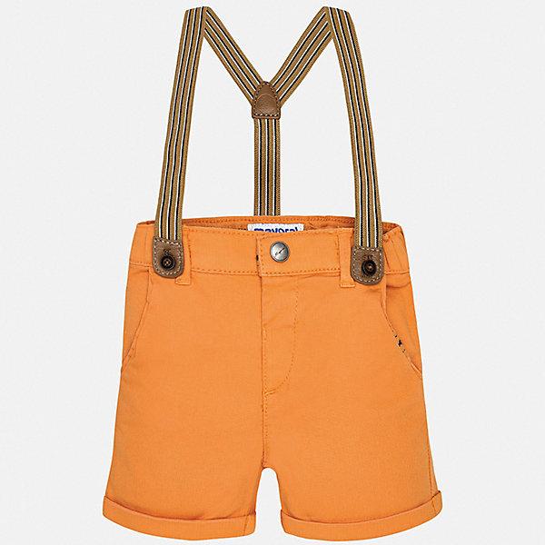 Шорты Mayoral для мальчикаШорты и бриджи<br>Характеристики товара:<br><br>• цвет: оранжевый<br>• комплектация: шорты, подтяжки<br>• состав ткани: 98% хлопок, 2% эластан<br>• сезон: лето<br>• шлевки<br>• регулируемая талия<br>• застежка: пуговица<br>• страна бренда: Испания<br>• стиль и качество<br><br>Детские шорты сшиты из дышащего легкого материала. Благодаря преобладанию в его составе натурального хлопка материал детских шорт создает комфортные условия для тела. Шорты для мальчика от Mayoral отличаются стильным дизайном.<br><br>Шорты Mayoral (Майорал) для мальчика можно купить в нашем интернет-магазине.<br>Ширина мм: 191; Глубина мм: 10; Высота мм: 175; Вес г: 273; Цвет: оранжевый; Возраст от месяцев: 6; Возраст до месяцев: 9; Пол: Мужской; Возраст: Детский; Размер: 74,98,92,86,80; SKU: 7538147;