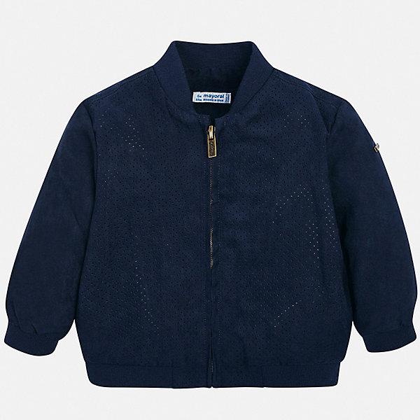 Куртка Mayoral для мальчикаВерхняя одежда<br>Характеристики товара:<br><br>• цвет: синий<br>• состав ткани: 100% полиэстер<br>• подкладка: 50% хлопок, 50% полиэстер<br>• утеплитель: нет<br>• сезон: демисезон<br>• особенности куртки: без капюшона<br>• застежка: молния<br>• страна бренда: Испания<br>• стиль и качество<br><br>Эта демисезонная куртка для мальчика от Майорал поможет обеспечить ребенку комфорт и тепло. Детская куртка отличается модным и продуманным дизайном. В куртке для мальчика от испанской компании Майорал ребенок будет выглядеть модно, а чувствовать себя - комфортно. <br><br>Куртку Mayoral (Майорал) для мальчика можно купить в нашем интернет-магазине.<br>Ширина мм: 356; Глубина мм: 10; Высота мм: 245; Вес г: 519; Цвет: синий; Возраст от месяцев: 12; Возраст до месяцев: 15; Пол: Мужской; Возраст: Детский; Размер: 80,98,92,86; SKU: 7538290;