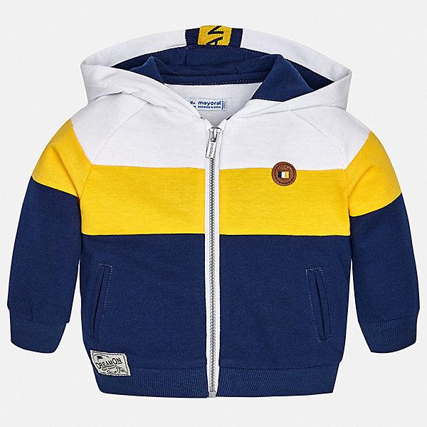 Куртка Mayoral для мальчикаВерхняя одежда<br>Характеристики товара:<br><br>• цвет: синий<br>• состав ткани: 72% хлопок, 28% полиэстер<br>• утеплитель: нет<br>• сезон: демисезон<br>• температурный режим: от +5 до +20<br>• особенности куртки: с капюшоном<br>• застежка: молния<br>• страна бренда: Испания<br>• стиль и качество<br><br>Легкая детская ветровка сделана из качественного материала. Такая куртка для мальчика отличается стильным продуманным дизайном. В детской куртке есть удобные карманы, мягкие манжеты и резинка по низу изделия.<br><br>Куртку Mayoral (Майорал) для мальчика можно купить в нашем интернет-магазине.<br>Ширина мм: 356; Глубина мм: 10; Высота мм: 245; Вес г: 519; Цвет: синий; Возраст от месяцев: 12; Возраст до месяцев: 15; Пол: Мужской; Возраст: Детский; Размер: 80,98,92,86; SKU: 7538350;
