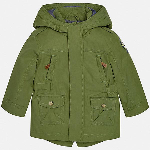 Куртка Mayoral для мальчикаВетровки и жакеты<br>Характеристики товара:<br><br>• цвет: зеленый<br>• состав ткани: 52% хлопок, 48% полиамид<br>• подкладка: 65% полиэстер, 35% хлопок<br>• утеплитель: нет<br>• сезон: демисезон<br>• температурный режим: от +5 до +20<br>• особенности куртки: с капюшоном<br>• застежка: молния<br>• страна бренда: Испания<br>• стиль и качество<br><br>Детская парка подойдет для переменной погоды. Эта ветровка от Mayoral отличается стильным оригинальным дизайном. Детская куртка сшита из легкого качественного материала. Куртка для мальчика Mayoral дополнена капюшоном и манжетами.<br><br>Куртку Mayoral (Майорал) для мальчика можно купить в нашем интернет-магазине.<br>Ширина мм: 356; Глубина мм: 10; Высота мм: 245; Вес г: 519; Цвет: зеленый; Возраст от месяцев: 6; Возраст до месяцев: 9; Пол: Мужской; Возраст: Детский; Размер: 74,98,92,86,80; SKU: 7538408;
