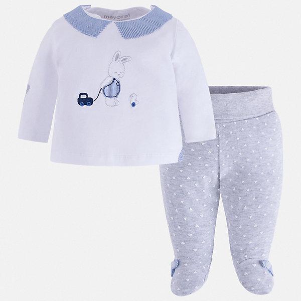 Mayoral Комплект ползунки Mayoral для мальчика брюки джинсы и штанишки ёмаё ползунки для мальчика ватсон 26 290