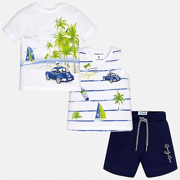Mayoral Комплект:2 футболки,шорты Mayoral для мальчика комплект футболки шорты свiтанак комплект футболки шорты