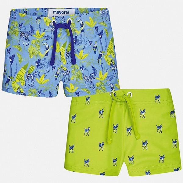 Комплект:2 пары купальных плавок Mayoral для мальчикаКупальники и плавки<br>Характеристики товара:<br><br>• цвет: голубой, зеленый<br>• комплектация: 2 шт.<br>• состав ткани: 85% полиэстер, 15% эластан<br>• подкладка: 100% полиэстер<br>• сезон: лето<br>• пояс: резинка, шнурок<br>• страна бренда: Испания<br>• стиль и качество<br><br>Эти двое плавок для мальчика от Майорал - отличный комплект для жаркого времени года. В таком детском комплекте - сразу две качественные и модные вещи. В плавках для мальчика от испанской компании Майорал ребенок будет чувствовать себя удобно благодаря высокому качеству материала и швов. <br><br>Комплект: 2 пары плавок Mayoral (Майорал) для мальчика можно купить в нашем интернет-магазине.<br>Ширина мм: 183; Глубина мм: 60; Высота мм: 135; Вес г: 119; Цвет: зеленый; Возраст от месяцев: 12; Возраст до месяцев: 18; Пол: Мужской; Возраст: Детский; Размер: 86,98,92; SKU: 7538797;