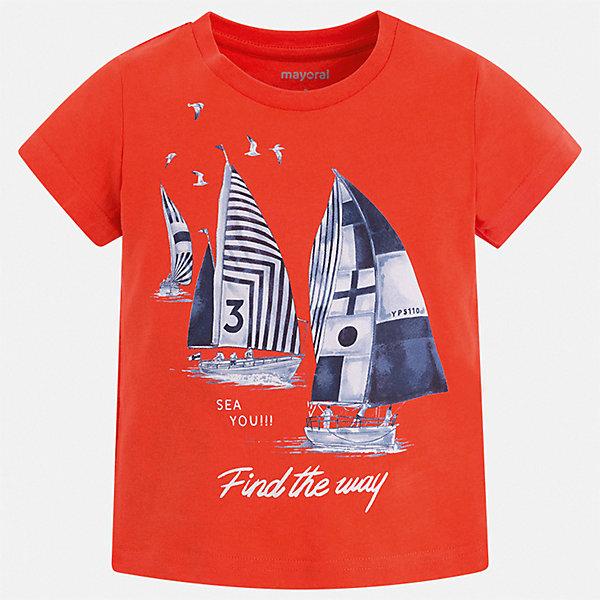 Футболка Mayoral для мальчикаФутболки, поло и топы<br>Характеристики товара:<br><br>• цвет: красный<br>• состав ткани: 100% хлопок<br>• сезон: лето<br>• короткие рукава<br>• страна бренда: Испания<br>• стиль и качество<br><br>Яркая детская футболка отличается стильным и продуманным дизайном. Модная хлопковая футболка для мальчика от Майорал поможет обеспечить ребенку комфорт. В футболке для мальчика от испанской компании Майорал ребенок будет чувствовать себя удобно благодаря качественным швам и натуральному материалу. <br><br>Футболку Mayoral (Майорал) для мальчика можно купить в нашем интернет-магазине.<br>Ширина мм: 199; Глубина мм: 10; Высота мм: 161; Вес г: 151; Цвет: бежевый; Возраст от месяцев: 36; Возраст до месяцев: 48; Пол: Мужской; Возраст: Детский; Размер: 104,98,92,134,128,122,116,110; SKU: 7539109;