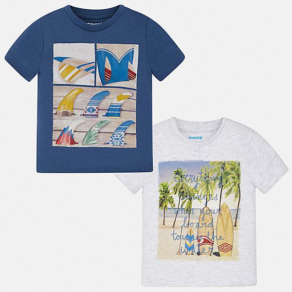 Mayoral Комплект: 2 футболки Mayoral для мальчика рубашки футболки для детей