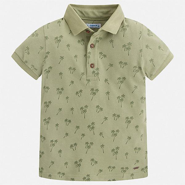 Рубашка-поло Mayoral для мальчикаФутболки, поло и топы<br>Характеристики товара:<br><br>• цвет: мульти<br>• состав ткани: 100% хлопок<br>• сезон: лето<br>• особенности модели: отложной воротник<br>• застежка: пуговицы<br>• короткие рукава<br>• страна бренда: Испания<br>• стиль и качество <br><br>Эффектная футболка-поло для детей от испанской компании Mayoral - пример отличного вкуса. Модная футболка-поло для мальчика от Mayoral отличается высоким качеством исполнения. Стильная детская футболка-поло сделана из качественной ткани. <br><br>Футболку-поло Mayoral (Майорал) для мальчика можно купить в нашем интернет-магазине.<br>Ширина мм: 174; Глубина мм: 10; Высота мм: 169; Вес г: 157; Цвет: зеленый; Возраст от месяцев: 18; Возраст до месяцев: 24; Пол: Мужской; Возраст: Детский; Размер: 92,134,128,122,116,110,104,98; SKU: 7539779;