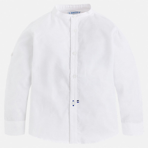 Рубашка Mayoral для мальчикаБлузки и рубашки<br>Характеристики товара:<br><br>• цвет: белый<br>• состав ткани: 100% хлопок<br>• сезон: круглый год<br>• особенности модели: нарядная<br>• застежка: пуговицы<br>• длинные рукава<br>• страна бренда: Испания<br>• стиль и качество<br><br>Белая детская рубашка сделана из дышащего приятного на ощупь материала. Благодаря продуманному крою детской рубашки создаются комфортные условия для тела. Рубашка с длинным рукавом для мальчика отличается лаконичным продуманным дизайном.<br><br>Рубашку Mayoral (Майорал) для мальчика можно купить в нашем интернет-магазине.<br>Ширина мм: 174; Глубина мм: 10; Высота мм: 169; Вес г: 157; Цвет: белый; Возраст от месяцев: 18; Возраст до месяцев: 24; Пол: Мужской; Возраст: Детский; Размер: 92,134,128,122,116,110,104,98; SKU: 7540131;