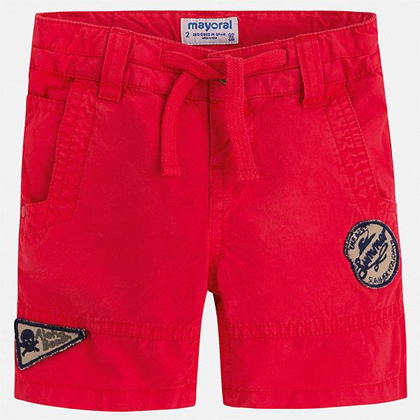 Шорты Mayoral для мальчикаШорты, бриджи, капри<br>Характеристики товара:<br><br>• цвет: красный<br>• состав ткани: 100% хлопок<br>• сезон: лето<br>• шлевки<br>• пояс: шнурок<br>• застежка: пуговица<br>• страна бренда: Испания<br>• стиль и качество<br><br>Красные бриджи для детей от Mayoral отличаются лаконичным, но стильным дизайном. Стильные и практичные детские бриджи подойдут для ношения в разных случаях. Бриджи для мальчика Mayoral дополнены шлевками. Детские шорты сшиты из качественного материала с преобладанием хлопка в составе. <br><br>Бриджи Mayoral (Майорал) для мальчика можно купить в нашем интернет-магазине.<br>Ширина мм: 191; Глубина мм: 10; Высота мм: 175; Вес г: 273; Цвет: бордовый; Возраст от месяцев: 18; Возраст до месяцев: 24; Пол: Мужской; Возраст: Детский; Размер: 92,98,104,110,116,122,128,134; SKU: 7540554;