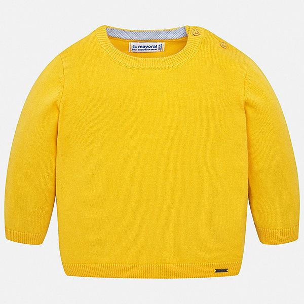Свитер Mayoral для мальчикаСвитера и кардиганы<br>Характеристики товара:<br><br>• цвет: желтый<br>• состав ткани: 82% хлопок, 18% полиамид<br>• сезон: демисезон<br>• застежка: пуговицы<br>• длинные рукава<br>• страна бренда: Испания<br>• стиль и качество<br><br>Свитер для мальчика украшен оригинальным декором. Этот свитер для мальчика Mayoral удобно сидит по фигуре. Яркий детский свитер сделан из приятного на ощупь материала. Отличный способ обеспечить ребенку комфорт и аккуратный внешний вид - надеть детский свитер от Mayoral. <br><br>Свитер Mayoral (Майорал) для мальчика можно купить в нашем интернет-магазине.<br>Ширина мм: 190; Глубина мм: 74; Высота мм: 229; Вес г: 236; Цвет: желтый; Возраст от месяцев: 6; Возраст до месяцев: 9; Пол: Мужской; Возраст: Детский; Размер: 74,98,92,86,80; SKU: 7541458;