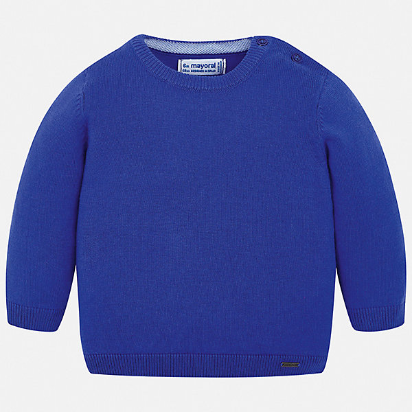 Свитер Mayoral для мальчикаСвитера и кардиганы<br>Характеристики товара:<br><br>• цвет: синий<br>• состав ткани: 82% хлопок, 18% полиамид<br>• сезон: демисезон<br>• застежка: пуговицы<br>• длинные рукава<br>• страна бренда: Испания<br>• стиль и качество<br><br>Синий детский свитер сделан из дышащего приятного на ощупь материала. Благодаря продуманному крою детского свитера создаются комфортные условия для тела. Свитер для мальчика отличается стильным продуманным дизайном.<br><br>Свитер Mayoral (Майорал) для мальчика можно купить в нашем интернет-магазине.<br>Ширина мм: 190; Глубина мм: 74; Высота мм: 229; Вес г: 236; Цвет: синий; Возраст от месяцев: 12; Возраст до месяцев: 18; Пол: Мужской; Возраст: Детский; Размер: 86,80,74,98,92; SKU: 7541470;