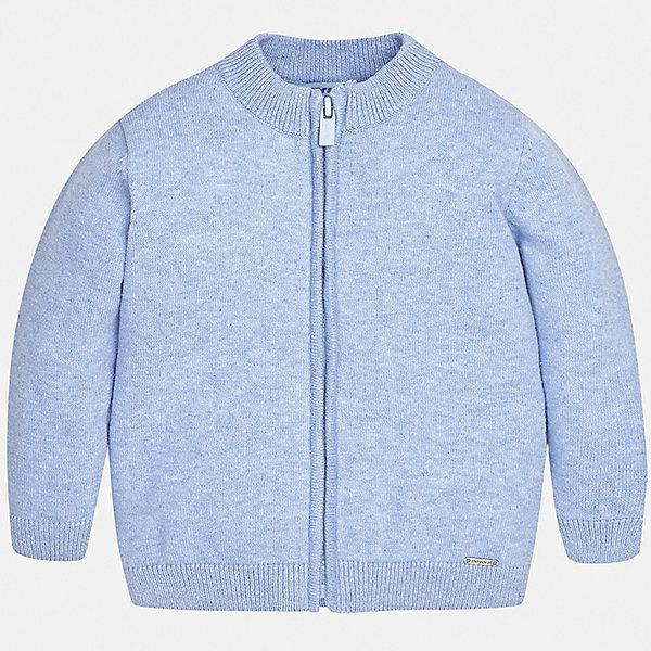 Кардиган Mayoral для мальчикаСвитера и кардиганы<br>Характеристики товара:<br><br>• цвет: голубой<br>• состав ткани: 80% хлопок, 20% полиамид<br>• сезон: демисезон<br>• застежка: молния<br>• длинные рукава<br>• страна бренда: Испания<br>• стиль и качество<br><br>Стильный кардиган для мальчика от Mayoral комфортно сидит по фигуре. Этот детский кардиган сделан из приятного на ощупь материала, снабжен удобной молнией. Удобный кардиган для мальчика дополнен мягкими манжетами.<br><br>Кардиган Mayoral (Майорал) для мальчика можно купить в нашем интернет-магазине.<br>Ширина мм: 190; Глубина мм: 74; Высота мм: 229; Вес г: 236; Цвет: серый; Возраст от месяцев: 18; Возраст до месяцев: 24; Пол: Мужской; Возраст: Детский; Размер: 92,80,98,86; SKU: 7541482;
