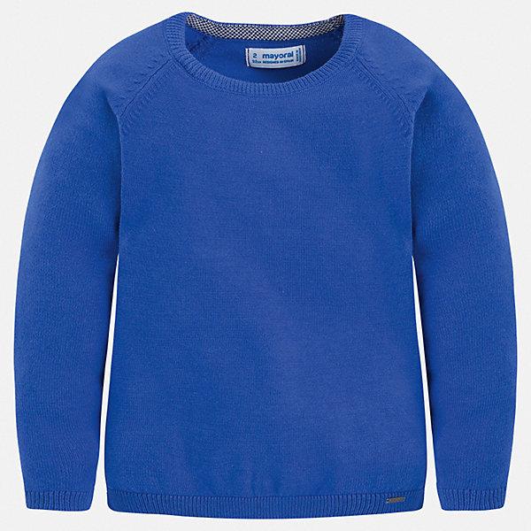 Свитер Mayoral для мальчикаСвитеры и кардиганы<br>Характеристики товара:<br><br>• цвет: синий<br>• состав ткани: 82% хлопок, 18% полиамид<br>• сезон: демисезон<br>• длинные рукава<br>• страна бренда: Испания<br>• стиль и качество<br><br>Модный и практичный детский свитер сделан из дышащего приятного на ощупь материала. Благодаря продуманному крою детского свитера создаются комфортные условия для тела. Свитер для мальчика отличается стильным продуманным дизайном.<br><br>Свитер Mayoral (Майорал) для мальчика можно купить в нашем интернет-магазине.