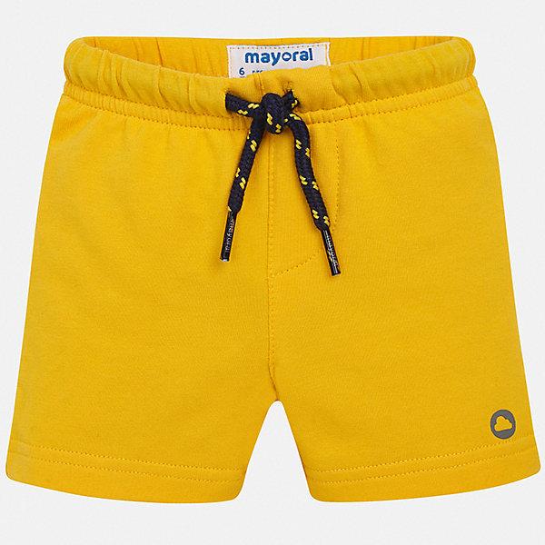 Шорты Mayoral для мальчикаШорты, бриджи, капри<br>Характеристики товара:<br><br>• цвет: желтый<br>• состав ткани: 78% хлопок, 18% полиэстер, 4% эластан<br>• сезон: лето<br>• особенности модели: спортивный стиль<br>• пояс: шнурок<br>• страна бренда: Испания<br>• стиль и качество<br><br>Яркие шорты спортивного силуэта для мальчика Mayoral отличаются мягкой резинкой и шнурком на талии. Такие детские шорты подойдут для ношения в разных случаях. Отличный способ обеспечить ребенку комфорт в жаркую погоду - надеть эти шорты от Mayoral. Детские шорты сшиты из качественного материала с преобладанием хлопка в составе. <br><br>Шорты Mayoral (Майорал) для мальчика можно купить в нашем интернет-магазине.<br>Ширина мм: 191; Глубина мм: 10; Высота мм: 175; Вес г: 273; Цвет: желтый; Возраст от месяцев: 6; Возраст до месяцев: 9; Пол: Мужской; Возраст: Детский; Размер: 74,98,92,86,80; SKU: 7541956;