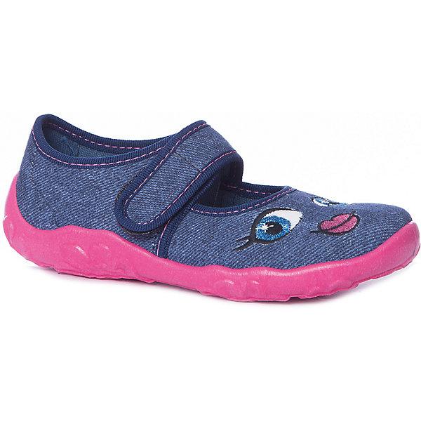 Туфли Superfit для девочкиТекстильные туфли<br>Характеристики товара:<br><br>• цвет: синий (джинс)<br>• материал верха: текстиль<br>• подклад: текстиль<br>• стелька: текстиль<br>• подошва: полиуретан<br>• сезон: лето<br>• особенности модели: веселый принт<br>• застежка: липучка<br>• защита мыса<br>• анатомические<br>• страна бренда: Австрия<br><br><br>Уютная и комфортная домашняя обувь SUPERFIT для девочек. Произведена из плотного текстиля наивысшего качества. Плотный задник надёжно защитит ножку Вашего ребёнка от повреждений. Застёжка-липучка гибкой конфигурации фиксирует обувь точно по стопе. Рельефная, дышащая подошва с отверстиями для циркуляции воздуха произведена из нескользящих материалов.<br><br>Обувь SUPERFIT - это качественная европейская продукция, которая помогает детям выглядеть модно и чувствовать себя удобно.<br><br>Текстильные туфли для девочки SUPERFIT можно купить в нашем интернет-магазине.<br>Ширина мм: 227; Глубина мм: 145; Высота мм: 124; Вес г: 325; Цвет: синий; Возраст от месяцев: 72; Возраст до месяцев: 84; Пол: Женский; Возраст: Детский; Размер: 30,23,33,32,31,29,28,27,26,25,24; SKU: 7542439;