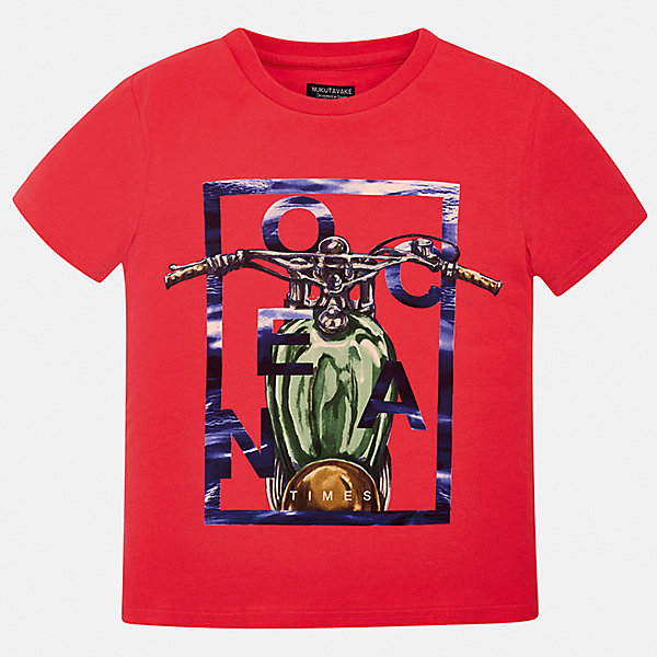Футболка Mayoral для мальчикаФутболки, поло и топы<br>Характеристики товара:<br><br>• цвет: красный<br>• состав ткани: 100% хлопок<br>• сезон: лето<br>• короткие рукава<br>• страна бренда: Испания<br>• неповторимый стиль Mayoral<br><br>Яркая футболка для мальчика от Mayoral - универсальная и комфортная базовая вещь для детского гардероба. Хлопковая детская футболка сделана из натуральной трикотажной ткани, которая обеспечивает ребенку комфорт. Детская футболка поможет создать модный и удобный наряд для ребенка. <br><br>Футболку Mayoral (Майорал) для мальчика можно купить в нашем интернет-магазине.<br>Ширина мм: 199; Глубина мм: 10; Высота мм: 161; Вес г: 151; Цвет: бордовый; Возраст от месяцев: 96; Возраст до месяцев: 108; Пол: Мужской; Возраст: Детский; Размер: 128/134,170,164,158,152,140; SKU: 7543693;