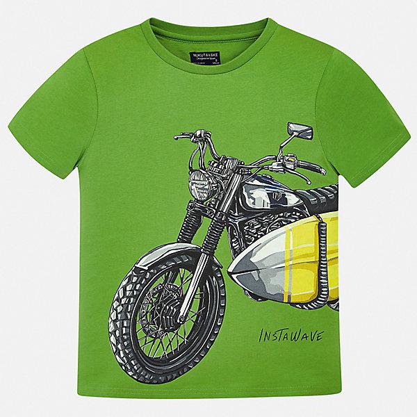 Футболка Mayoral для мальчикаФутболки, поло и топы<br>Характеристики товара:<br><br>• цвет: зеленый<br>• состав ткани: 100% хлопок<br>• сезон: лето<br>• короткие рукава<br>• страна бренда: Испания<br>• неповторимый стиль Mayoral<br><br>Оригинальная футболка для мальчика от Майорал поможет обеспечить ребенку комфорт. В футболке для мальчика от испанской компании Майорал ребенок будет чувствовать себя удобно благодаря качественным швам и натуральному материалу. Трикотажная детская футболка отлично сочетается с различными брюками и шортами. <br><br>Футболку Mayoral (Майорал) для мальчика можно купить в нашем интернет-магазине.<br>Ширина мм: 199; Глубина мм: 10; Высота мм: 161; Вес г: 151; Цвет: зеленый; Возраст от месяцев: 96; Возраст до месяцев: 108; Пол: Мужской; Возраст: Детский; Размер: 128/134,164,158,152,140,170; SKU: 7543742;