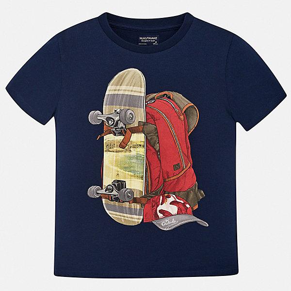 Футболка Mayoral для мальчикаФутболки, поло и топы<br>Характеристики товара:<br><br>• цвет: синий<br>• состав ткани: 100% хлопок<br>• сезон: лето<br>• короткие рукава<br>• страна бренда: Испания<br>• неповторимый стиль Mayoral<br><br>Эффектная детская футболка может стать основой для создания множества удачных нарядов. Такая футболка для мальчика от Майорал поможет обеспечить ребенку комфорт. В футболке для мальчика от испанской компании Майорал ребенок будет чувствовать себя удобно благодаря качественным швам и натуральному материалу. <br><br>Футболку Mayoral (Майорал) для мальчика можно купить в нашем интернет-магазине.<br>Ширина мм: 199; Глубина мм: 10; Высота мм: 161; Вес г: 151; Цвет: синий; Возраст от месяцев: 96; Возраст до месяцев: 108; Пол: Мужской; Возраст: Детский; Размер: 128/134,170,164,158,152,140; SKU: 7543966;