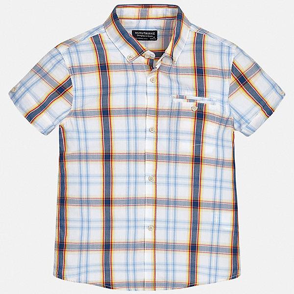 Рубашка Mayoral для мальчикаБлузки и рубашки<br>Характеристики товара:<br><br>• цвет: голубой<br>• состав ткани: 100% хлопок<br>• сезон: лето<br>• застежка: пуговицы<br>• короткие рукава<br>• страна бренда: Испания<br>• неповторимый стиль Mayoral<br><br>Клетчатая рубашка для мальчика от Майорал поможет создать стильный и удобный наряд. Детская рубашка отличается модным и продуманным дизайном. В рубашке для мальчика от испанской компании Майорал ребенок будет выглядеть оригинально и аккуратно. <br><br>Рубашку Mayoral (Майорал) для мальчика можно купить в нашем интернет-магазине.