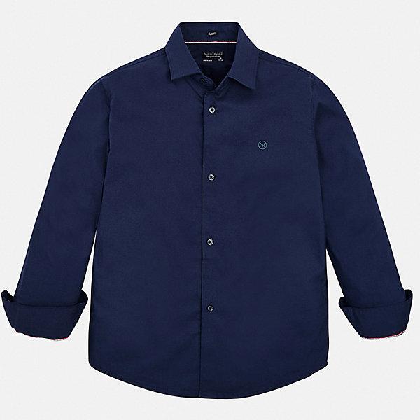 Рубашка Mayoral для мальчикаБлузки и рубашки<br>Характеристики товара:<br><br>• цвет: мульти<br>• состав ткани: 72% хлопок, 25% полиамид, 3% эластан<br>• сезон: круглый год<br>• застежка: пуговицы<br>• длинные рукава<br>• страна бренда: Испания<br>• неповторимый стиль Mayoral<br><br>Такая детская рубашка сделана из дышащего приятного на ощупь материала. Благодаря качественному крою детской рубашки создаются комфортные условия для тела. Эта рубашка с коротким рукавом для мальчика отличается высоким качеством швов и материала. <br><br>Рубашку Mayoral (Майорал) для мальчика можно купить в нашем интернет-магазине.<br>Ширина мм: 174; Глубина мм: 10; Высота мм: 169; Вес г: 157; Цвет: синий; Возраст от месяцев: 96; Возраст до месяцев: 108; Пол: Мужской; Возраст: Детский; Размер: 128/134,170,164,158,152,140; SKU: 7544447;