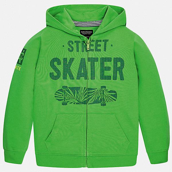 Толстовка Mayoral для мальчикаТолстовки<br>Характеристики товара:<br><br>• цвет: зеленый<br>• состав ткани: 100% хлопок<br>• утеплитель: нет<br>• сезон: демисезон<br>• особенности куртки: с капюшоном, спортивный стиль<br>• застежка: молния<br>• страна бренда: Испания<br>• неповторимый стиль Mayoral<br><br>Легкая детская куртка сшита из качественного материала. Куртка для мальчика Mayoral отличается стильным декором. Эта детская ветровка подойдет для переменной погоды. Куртка для детей от Mayoral отлично сочетается с вещами различных стилей. <br><br>Куртку Mayoral (Майорал) для мальчика можно купить в нашем интернет-магазине.<br>Ширина мм: 356; Глубина мм: 10; Высота мм: 245; Вес г: 519; Цвет: зеленый; Возраст от месяцев: 96; Возраст до месяцев: 108; Пол: Мужской; Возраст: Детский; Размер: 128/134,140,164,158,152; SKU: 7544824;