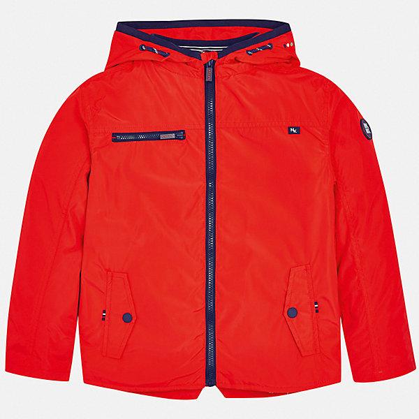 Куртка Mayoral для мальчикаВерхняя одежда<br>Характеристики товара:<br><br>• цвет: красный<br>• состав ткани: 100% полиэстер<br>• подкладка: 60% хлопок, 40% полиэстер<br>• утеплитель: нет<br>• сезон: демисезон<br>• особенности куртки: с капюшоном<br>• застежка: молния<br>• страна бренда: Испания<br>• неповторимый стиль Mayoral<br><br>Яркая легкая детская куртка сделана из качественного материала и фурнитуры. Куртка для мальчика отличается стильным продуманным кроем от европейских дизайнеров. В детской куртке есть карманы, модель дополнена мягкими манжетами.<br><br>Куртку Mayoral (Майорал) для мальчика можно купить в нашем интернет-магазине.<br>Ширина мм: 356; Глубина мм: 10; Высота мм: 245; Вес г: 519; Цвет: бордовый; Возраст от месяцев: 96; Возраст до месяцев: 108; Пол: Мужской; Возраст: Детский; Размер: 128/134,170,164,158,152,140; SKU: 7544865;