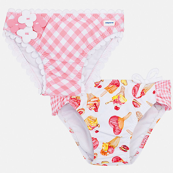 Комплект:2 пары трусов Mayoral для девочкиНижнее бельё<br>Характеристики товара:<br><br>• цвет: розовый<br>• комплектация: 2 шт.<br>• состав ткани: 85% полиэстер, 15% эластан<br>• подкладка: 100% полиэстер<br>• сезон: лето<br>• пояс: резинка<br>• страна бренда: Испания<br>• неповторимый стиль Mayoral<br><br>Яркие плавки для девочки от Майорал быстро сохнут благодаря качественному материалу. В таком детском комплекте - сразу две стильные вещи. В плавках для девочки от испанской компании Майорал ребенок будет чувствовать себя удобно на пляже и в воде.<br><br>Комплект: 2 пары плавок Mayoral (Майорал) для девочки можно купить в нашем интернет-магазине.<br>Ширина мм: 196; Глубина мм: 10; Высота мм: 154; Вес г: 152; Цвет: розовый; Возраст от месяцев: 12; Возраст до месяцев: 18; Пол: Женский; Возраст: Детский; Размер: 86,98,92; SKU: 7545802;