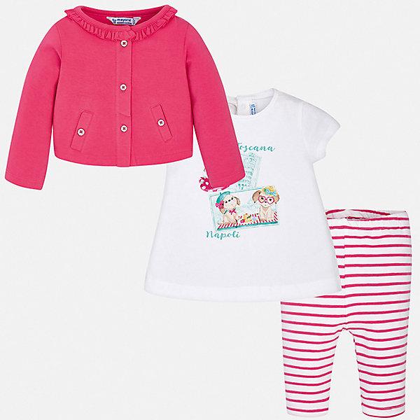Mayoral Комплект: футболка, жакет и леггинсы  для девочки