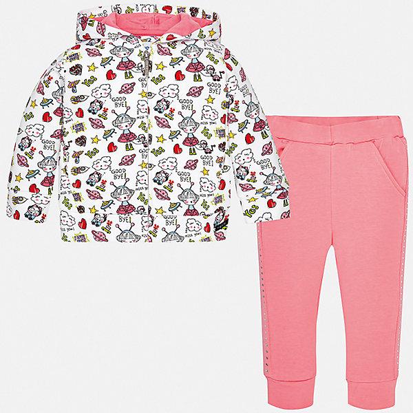Mayoral Спортивный костюм Mayoral для девочки костюм для девочки batik толстовка брюки цвет розовый синий ds0139 4 9 размер 98
