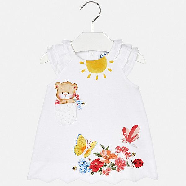 Платье Mayoral для девочкиОдежда<br>Характеристики товара:<br><br>• цвет: белый<br>• состав ткани верха: 92% хлопок, 8% эластан<br>• сезон: лето<br>• без рукавов<br>• страна бренда: Испания<br>• неповторимый стиль Mayoral<br><br>Принтованное платье для девочки от Майорал поможет обеспечить ребенку удобство и аккуратный внешний вид. Детское платье отличается модным и продуманным дизайном. В платье для девочки от испанской компании Майорал ребенок будет выглядеть модно, а чувствовать себя - комфортно. <br><br>Платье для девочки Mayoral (Майорал) можно купить в нашем интернет-магазине.<br>Ширина мм: 236; Глубина мм: 16; Высота мм: 184; Вес г: 177; Цвет: белый; Возраст от месяцев: 18; Возраст до месяцев: 24; Пол: Женский; Возраст: Детский; Размер: 92,74,98,86,80; SKU: 7546072;