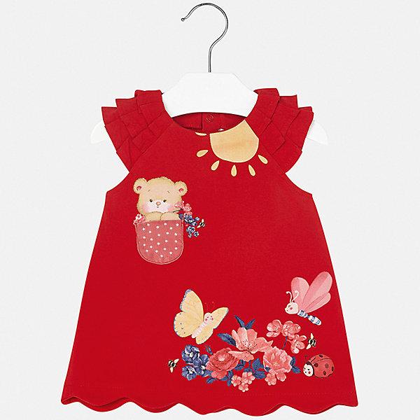 Платье Mayoral для девочкиЛетние платья и сарафаны<br>Характеристики товара:<br><br>• цвет: красный<br>• состав ткани верха: 92% хлопок, 8% эластан<br>• сезон: лето<br>• без рукавов<br>• страна бренда: Испания<br>• неповторимый стиль Mayoral<br><br>Легкое детское платье сделано из дышащего приятного на ощупь материала. Благодаря качественной хлопковой ткани детского платья для девочки создаются комфортные условия для тела. Платье для девочки отличается стильным продуманным дизайном.<br><br>Платье для девочки Mayoral (Майорал) можно купить в нашем интернет-магазине.<br>Ширина мм: 236; Глубина мм: 16; Высота мм: 184; Вес г: 177; Цвет: красный; Возраст от месяцев: 6; Возраст до месяцев: 9; Пол: Женский; Возраст: Детский; Размер: 74,98,92,86,80; SKU: 7546078;