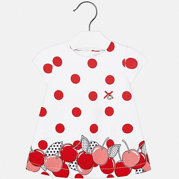 Платье Mayoral для девочкиЛетние платья и сарафаны<br>Характеристики товара:<br><br>• цвет: розовый<br>• состав ткани верха: 92% хлопок, 8% эластан<br>• подкладка: 100% хлопок<br>• сезон: лето<br>• застежка: молния<br>• короткие рукава<br>• страна бренда: Испания<br>• неповторимый стиль Mayoral<br><br>Принтованное детское платье отличается модным дизайном. Это платье для девочки от Майорал сделано из качественного материала и тщательно подобранной фурнитуры. Платье для девочки от испанской компании Майорал - стильный удачный наряд от европейских дизайнеров. <br><br>Платье для девочки Mayoral (Майорал) можно купить в нашем интернет-магазине.<br>Ширина мм: 236; Глубина мм: 16; Высота мм: 184; Вес г: 177; Цвет: красный; Возраст от месяцев: 12; Возраст до месяцев: 18; Пол: Женский; Возраст: Детский; Размер: 86,92,80,74; SKU: 7546143;
