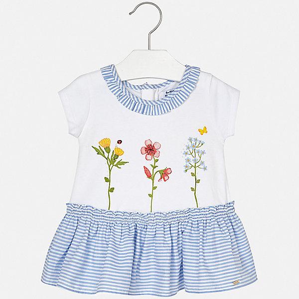 Платье Mayoral для девочкиПлатья<br>Характеристики товара:<br><br>• цвет: голубой<br>• состав ткани верха: 95% хлопок, 5% эластан<br>• сезон: лето<br>• застежка: молния<br>• короткие рукава<br>• страна бренда: Испания<br>• неповторимый стиль Mayoral<br><br>Хлопковое детское платье отличается модным дизайном. Это платье для девочки от Майорал сделано из качественного материала и тщательно подобранной фурнитуры. Платье для девочки от испанской компании Майорал - стильный удачный наряд от европейских дизайнеров. <br><br>Платье для девочки Mayoral (Майорал) можно купить в нашем интернет-магазине.<br>Ширина мм: 236; Глубина мм: 16; Высота мм: 184; Вес г: 177; Цвет: сиреневый; Возраст от месяцев: 12; Возраст до месяцев: 18; Пол: Женский; Возраст: Детский; Размер: 86,80,74,98,92; SKU: 7546224;